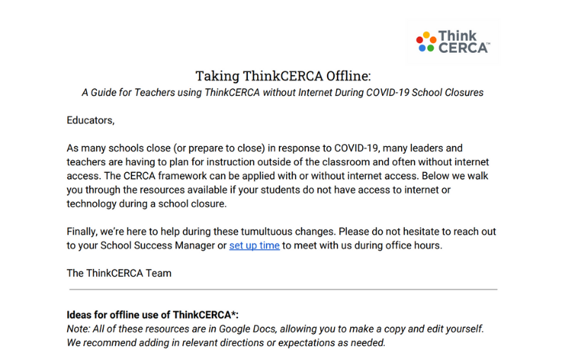 taking thinkcerca offline